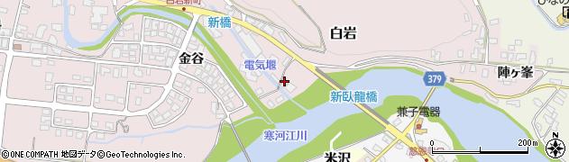 山形県寒河江市白岩4周辺の地図