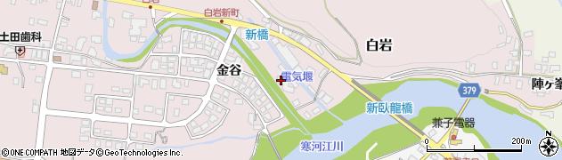 山形県寒河江市白岩8周辺の地図