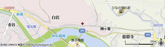 山形県寒河江市白岩2432周辺の地図