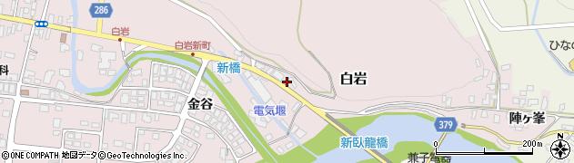 山形県寒河江市白岩3周辺の地図