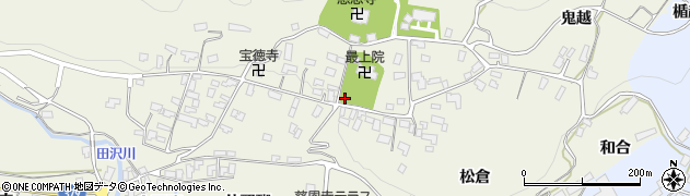 山形県寒河江市慈恩寺南坂周辺の地図