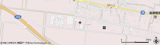 山形県寒河江市白岩大江寺周辺の地図