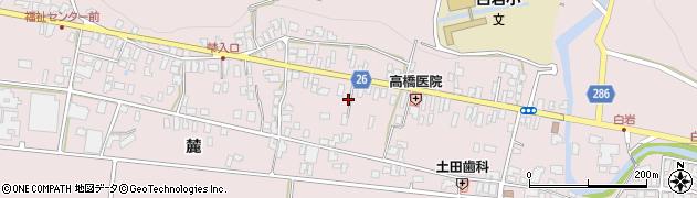 山形県寒河江市白岩267周辺の地図