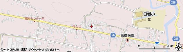 山形県寒河江市白岩303周辺の地図