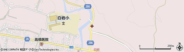 山形県寒河江市白岩53周辺の地図