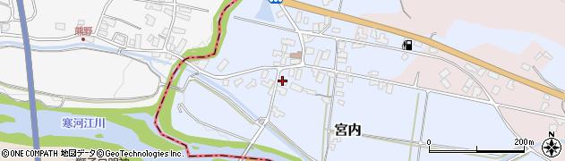 山形県寒河江市宮内48周辺の地図