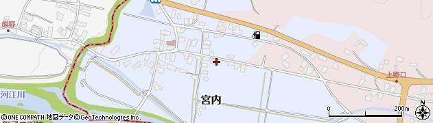 山形県寒河江市宮内38周辺の地図