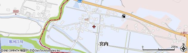 山形県寒河江市宮内58周辺の地図