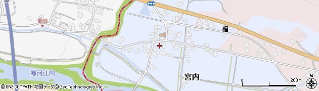 山形県寒河江市宮内46周辺の地図