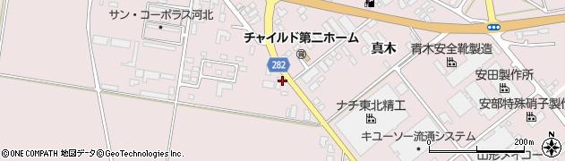 山形県西村山郡河北町谷地月山堂882周辺の地図