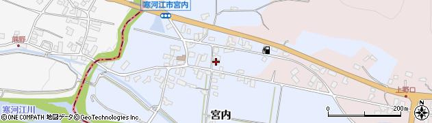 山形県寒河江市宮内40周辺の地図