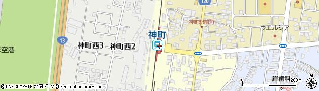 山形県東根市周辺の地図