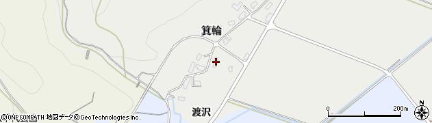 山形県寒河江市箕輪101周辺の地図