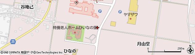 山形県西村山郡河北町谷地月山堂1136周辺の地図
