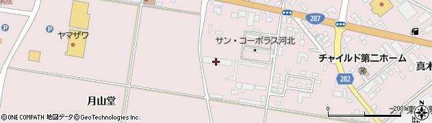 山形県西村山郡河北町谷地月山堂605周辺の地図