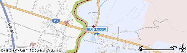 山形県寒河江市宮内168周辺の地図