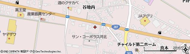 山形県西村山郡河北町谷地月山堂672周辺の地図