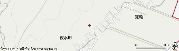 山形県寒河江市箕輪上屋敷周辺の地図