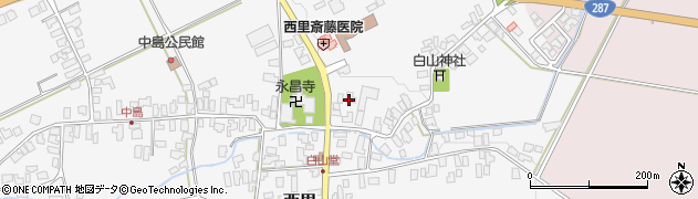 山形県西村山郡河北町西里671周辺の地図