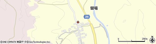 山形県寒河江市留場98周辺の地図