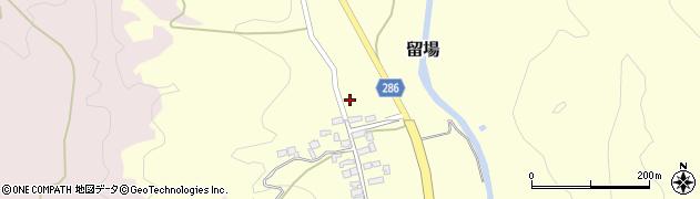 山形県寒河江市留場105周辺の地図