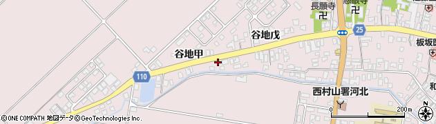 山形県西村山郡河北町谷地戊4周辺の地図