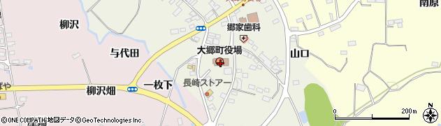 宮城県黒川郡大郷町周辺の地図