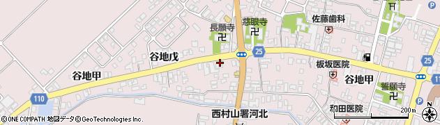 山形県西村山郡河北町谷地戊24周辺の地図