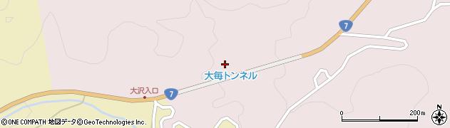 大毎トンネル周辺の地図