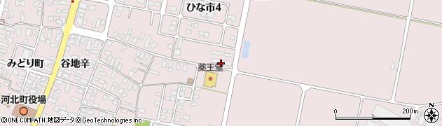 山形県西村山郡河北町谷地東96周辺の地図