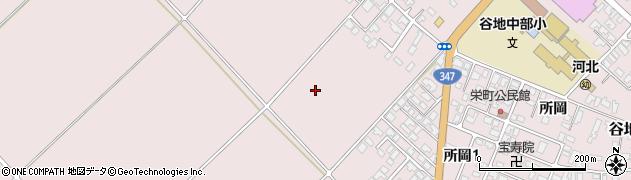 山形県西村山郡河北町谷地栄町周辺の地図