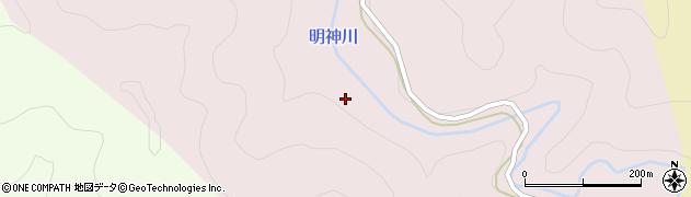 明神川周辺の地図