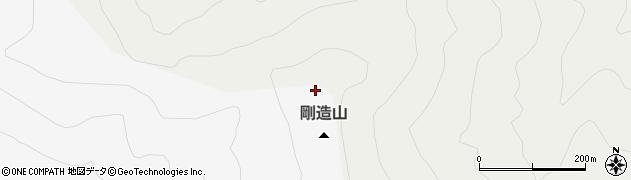 剛造山周辺の地図