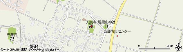 天崇寺周辺の地図