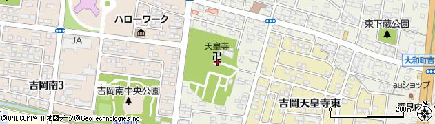 天皇寺周辺の地図