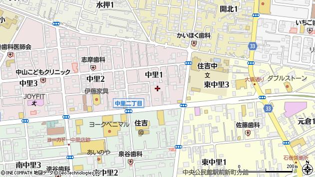 〒986-0815 宮城県石巻市中里の地図