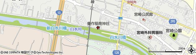 豊作稲荷神社周辺の地図