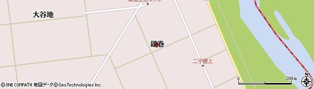 宮城県大崎市鹿島台木間塚(鎌巻)周辺の地図