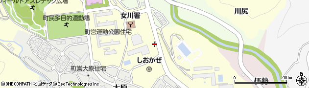 宮城県牡鹿郡女川町周辺の地図