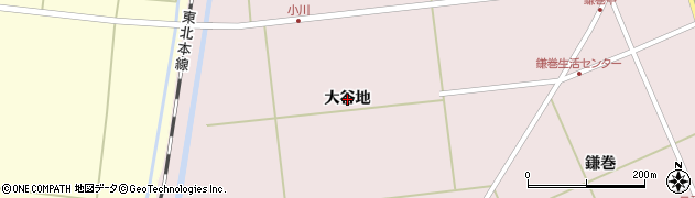 宮城県大崎市鹿島台木間塚(大谷地)周辺の地図