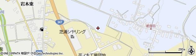 山形県西村山郡河北町新吉田新吉田南周辺の地図