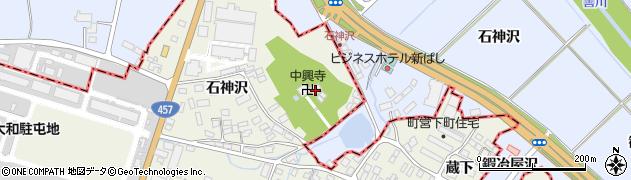 中興寺周辺の地図