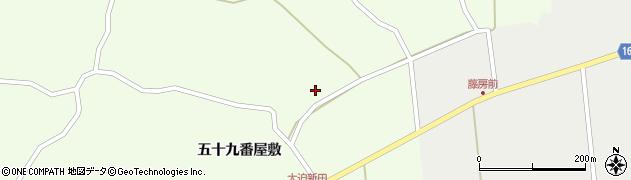 宮城県大崎市鹿島台大迫(西ノ沢)周辺の地図
