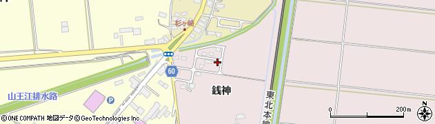 宮城県大崎市鹿島台木間塚(銭神)周辺の地図