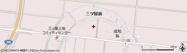 宮城県大崎市鹿島台木間塚(三ツ屋前)周辺の地図