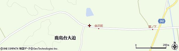 宮城県大崎市鹿島台大迫(金沢)周辺の地図