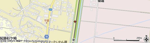 宮城県大崎市鹿島台平渡(沖新田)周辺の地図