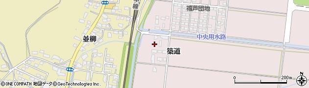 宮城県大崎市鹿島台木間塚(築道)周辺の地図