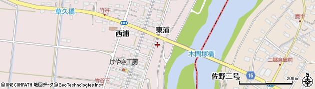 宮城県大崎市鹿島台木間塚(東浦)周辺の地図