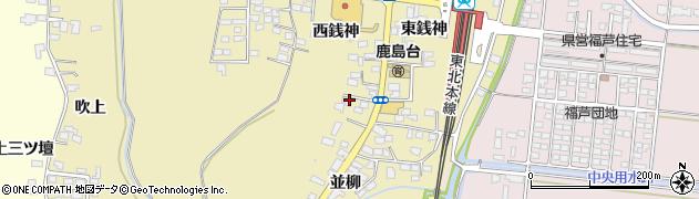 宮城県大崎市鹿島台平渡(西銭神)周辺の地図